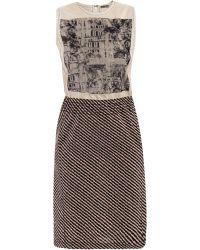 Bottega Veneta Silk Palade Photo-Stitch Dress - Lyst
