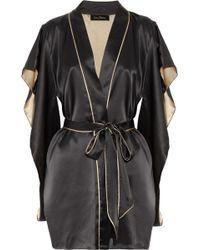 Jenny Packham - Two-tone Silk-satin Kimono Robe - Lyst