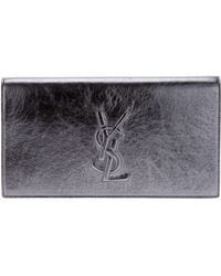 Saint Laurent Metallic Clutch - Lyst
