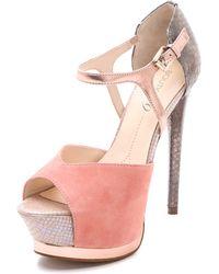 Boutique 9 Nerissa Open Toe Pumps pink - Lyst