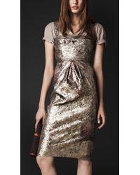 Burberry Prorsum Sequin Bustier Dress - Lyst