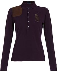 Ralph Lauren Blue Label - Leather Pony Patch Polo - Lyst