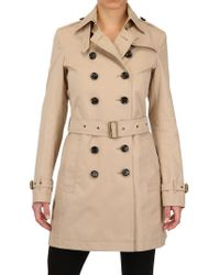 Burberry Brit | Double Breasted Gabardine Trench Coat | Lyst