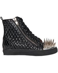 Jeffrey Campbell - Adam Spiked Quilted Leather Sneakers - Lyst