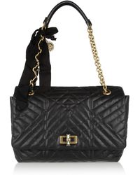 Lanvin The Happy Large Quilted Leather Shoulder Bag - Lyst