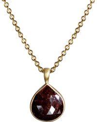 Me&Ro - Brick Red Opaque Diamond Pendant - Lyst