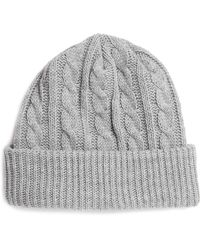 Topman Grey Marl Cable Knit Beanie - Lyst