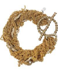 Arielle De Pinto | 14 Karat Woven Chain Bracelet | Lyst