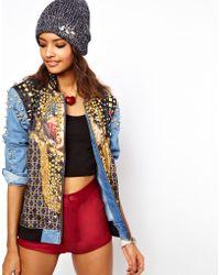 ASOS Collection Embellished Jewel Denim Jacket - Lyst