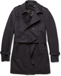 Burberry Prorsum Doublebreasted Cottongabardine Trench Coat - Lyst