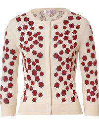 L'Wren Scott Embroidered Cashmere blend Cardigan - Lyst