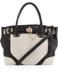 Rachel Zoe   Zoe Leather and Canvas Tote Bag   Lyst