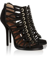 Givenchy Multi-Strap Suede Sandals - Lyst