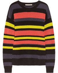 Jason Wu Striped Crochet Knit Cotton Blend Sweater - Lyst