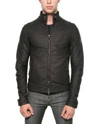 Belstaff Rubber Jersey Racer Jacket black - Lyst