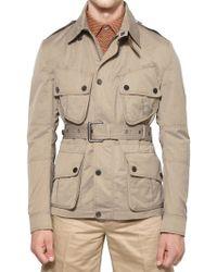 Belstaff Techno Cotton Moulinè Sahariana Jacket beige - Lyst