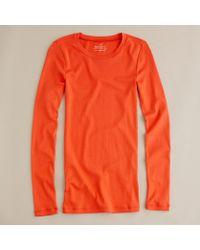 J.Crew Perfect-fit Long-sleeve Tee orange - Lyst