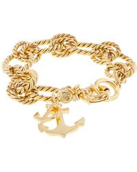 J.Crew Anchor Charm Bracelet gold - Lyst