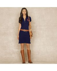Ralph Lauren Blue Label | Shiny Big Pony Dress | Lyst