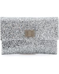 Anya Hindmarch Valorie Clutch silver - Lyst