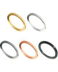 Asos Multipack Fine Band Rings - Lyst