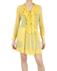 Beayukmui - Silk Chiffon Ruffle Dress - Lyst