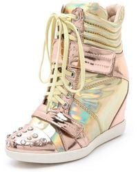 Boutique 9 - Nevan Wedge Splatter Trainers - Lyst