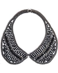 DANNIJO Hilaria Crystal Collar Necklace - Lyst
