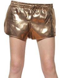 N°21 - Techno Laminated Shorts - Lyst