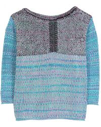 See By Chloé Marled Graphic Knit Pullover - Lyst