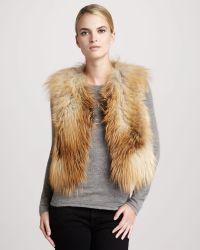 Tasha Tarno - Golden Fox Fur Vest - Lyst