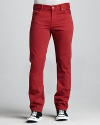 7 For All Mankind Slimmy Tapered Fire Brick Jeans - Lyst