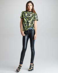 McQ by Alexander McQueen Faux Leather denim Leggings - Lyst