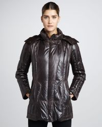 Rainforest - Faux Leather Puffer Coat - Lyst
