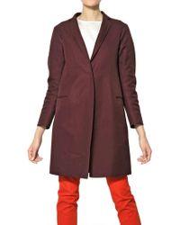 Jil Sander Double Cotton Gabardine Coat - Lyst