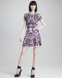 McQ by Alexander McQueen Griffin Printed Knit Dress - Lyst