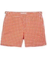 Orlebar Brown Bulldog Midlength Printed Swim Shorts - Lyst
