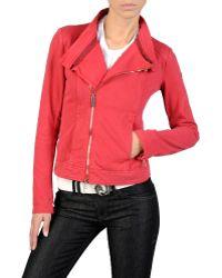 Armani Jeans Vintage Effect Sweatshirt with Side Zipper - Lyst