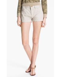 Current/Elliott Leather Shorts - Lyst