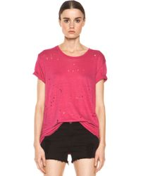 IRO Clay Destroyed Tee  - Lyst