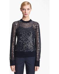 Michael Kors Paillette Cashmere Sweater - Lyst