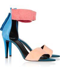 Pierre Hardy Colorblock Suede Sandals - Lyst