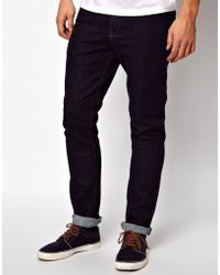 Asos Skinny Jeans In Indigo - Lyst
