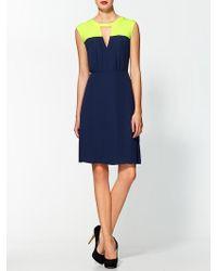 BCBGMAXAZRIA Colorblock Dress - Lyst