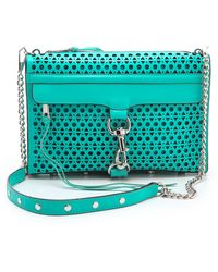 Rebecca Minkoff Triangle Perf Mac Bag blue - Lyst