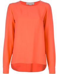 Stella McCartney Long Sleeve Blouse orange - Lyst