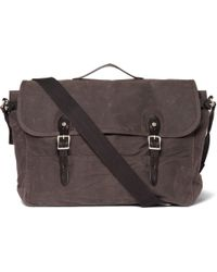 J.Crew - Canvas and Leather Messenger Bag - Lyst