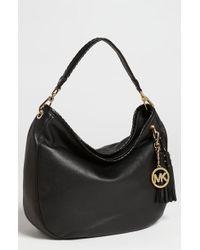 Bcbgmaxazria Black Leather 'Amelie' Large Slouchy Shoulder Bag 39