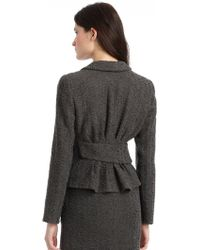 Giorgio Armani Textured Shawl Collar Jacket - Lyst