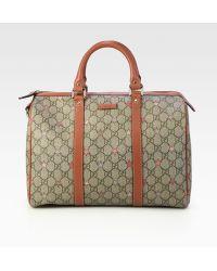 Gucci Joy Gg Supreme Stars Canvas Boston Bag - Lyst